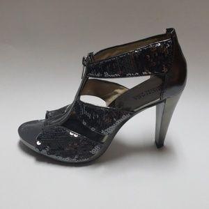 Michael Michael kors metallic sequin heels.